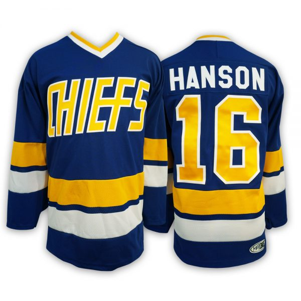 js216-DAVE-HANSON-BROTHERS-SLAPSHOT-MOVIE-HOCKEY-JERSEY-CHARLESTOWN-CHIEFS