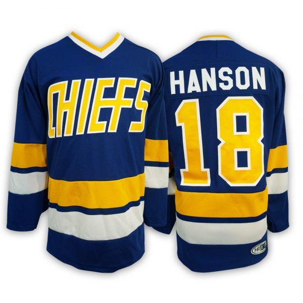 js218-JEFF-HANSON-BROTHERS-SLAPSHOT-MOVIE-HOCKEY-JERSEY-CHARLESTOWN-CHIEFS