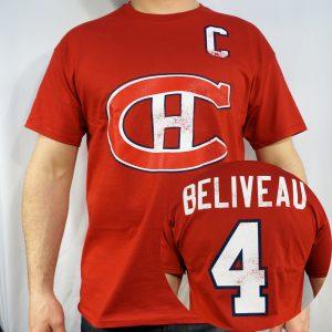 Montreal Canadiens #4 BELIVEAU NHL T-shirt