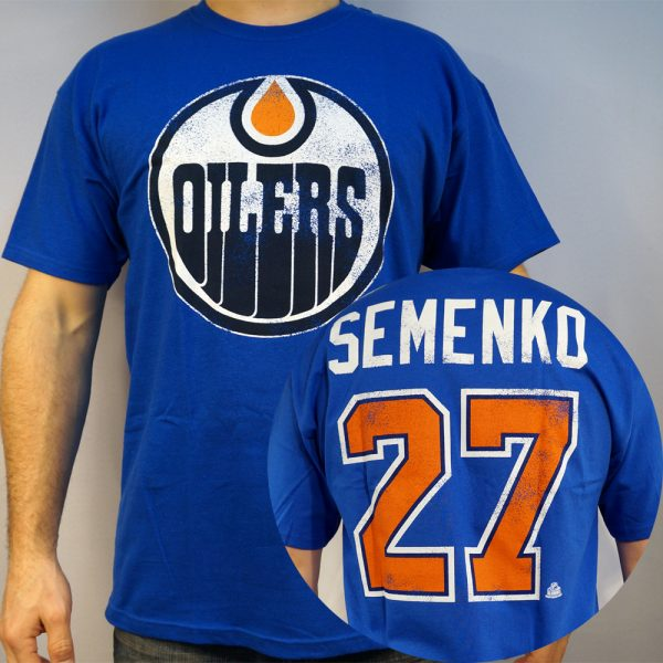 Oilers #27 SEMENKO T-shirt