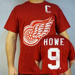 Red Wings #9 HOWE NHL T-shirt