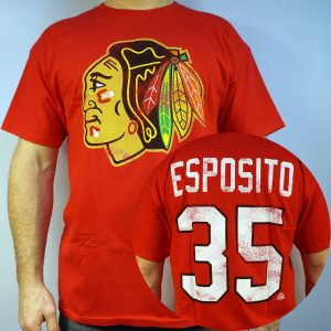 Blackhawks #35 ESPOSITO NHL T-shirt