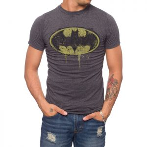 Batman dripping logo T-shirt