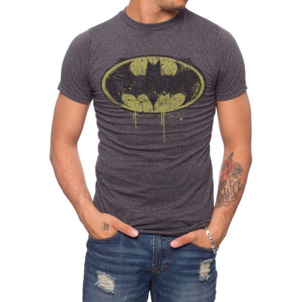 Batman dripping logo T-shirt