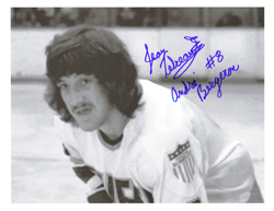 Bergeron charlestown chiefs slapshot signed picture
