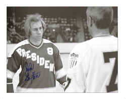 Brophy signed picture slapshot movie