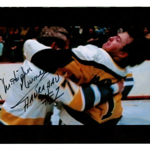 Hanrahan slapshot movie signed picture