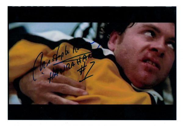 Hanrahan slapshot movie signed picture