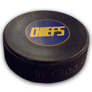 SLAPSHOT-CHARLESTOWN-CHIEFS-MOVIE-HOCKEY-PUCK