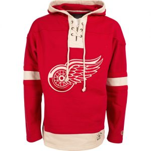 red wings hooded sweatshirt nhl