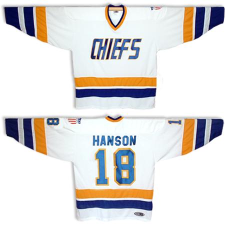 18-JEFF-HANSON-BROTHERS-SLAPSHOT-MOVIE-HOCKEY-JERSEY-CHARLESTOWN-CHIEFS-HOME