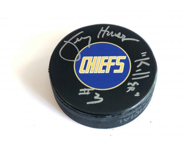 signed-hockey-puck-carlson-slapshot-chiefs