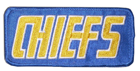 Charlestown CHIEFS Embroided Patch slapshot movie