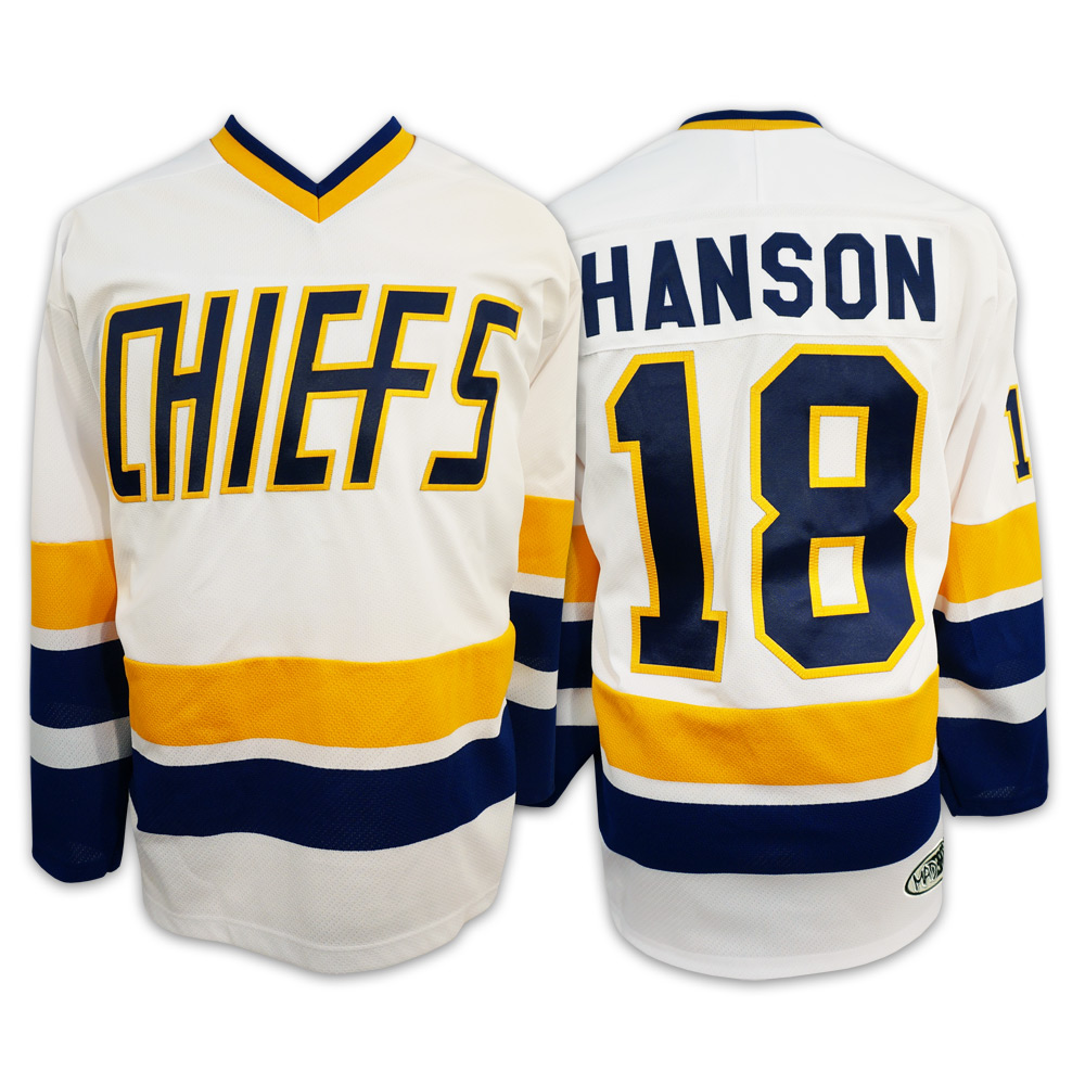 vinking Hanson Brothers Jersey Charlestown/Chiefs/16,17,18/Slap Shot Ice Hockey Movie Jersey