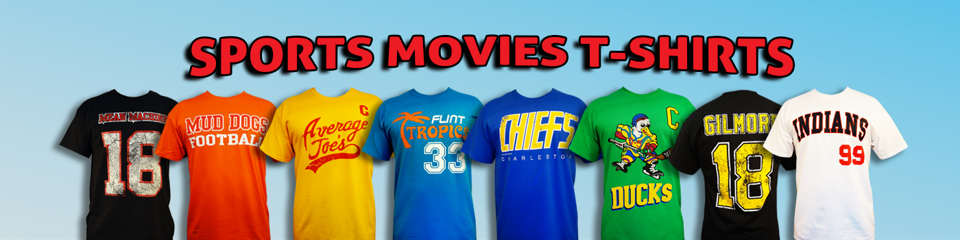 Sports Movies Apparel, T-shirts, caps and more