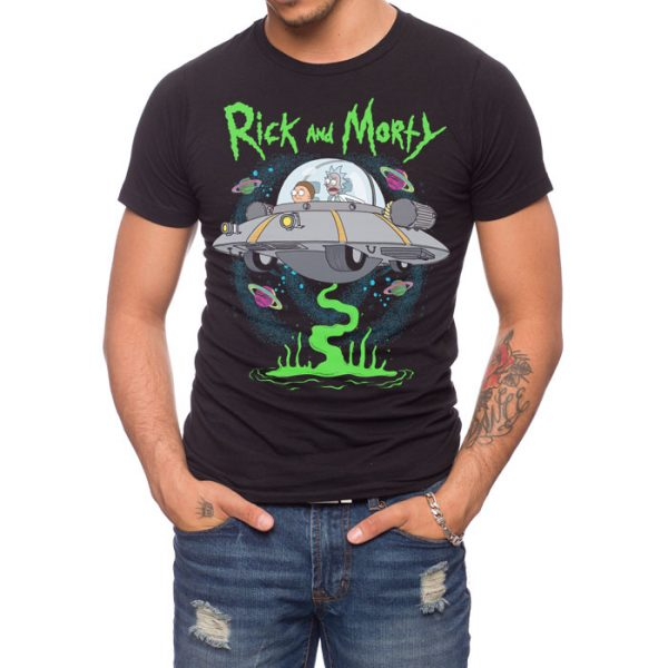 Rick and Morty UFO T-shirt